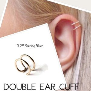 Fake Cartlidge Piercing Adjustable Double Ear Cuff